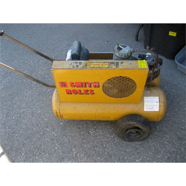 SMITH ROLLS ELECTRIC TWO TANK AIR COMPRESSOR