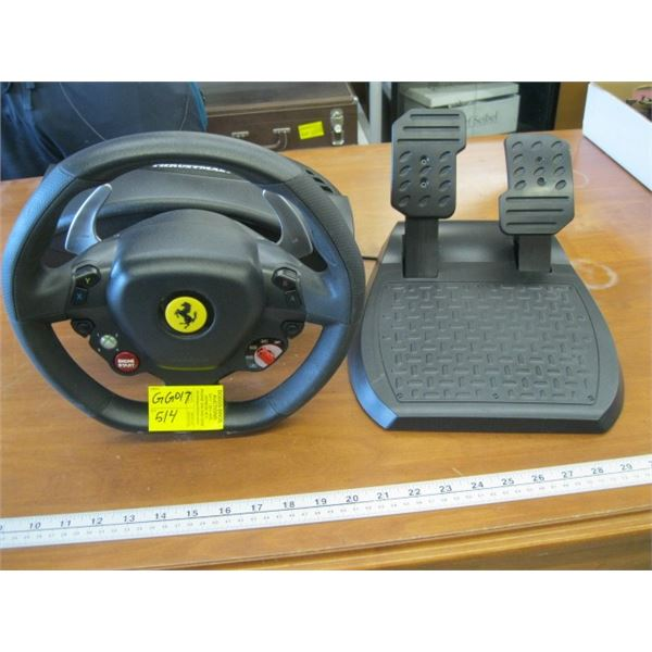 THE RUSTMASTER STEERING WHEEL & FOOT PEDALS FOR GAMING