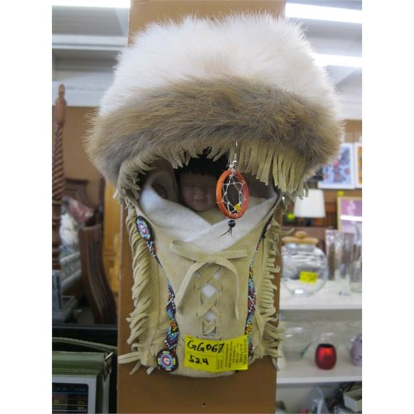NATIVE AMERICAN HANGING PAPOOSE DOLL