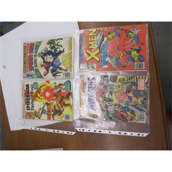 FLAT WITH 11 MARVEL & DC 1980s COMICS