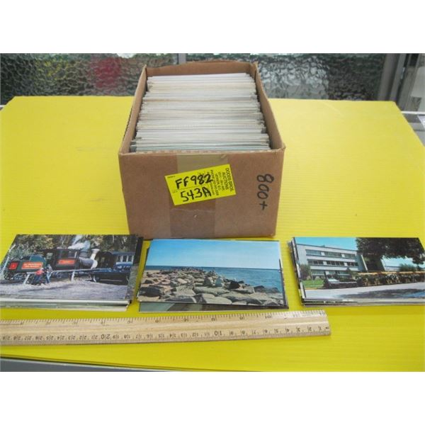 1 BOX OF POST CARDS
