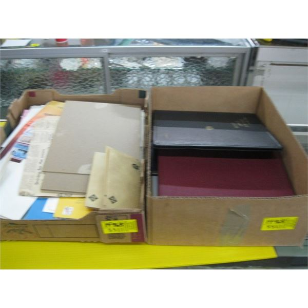 2 BOXES OF STAMPS