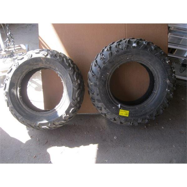 PAIR OF AT205/80R12 ATV TIRES
