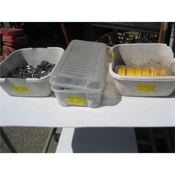 LG. LOT OF ASST. WRENCHES, SOCKETS, FLAGGING TAPE, ETC.