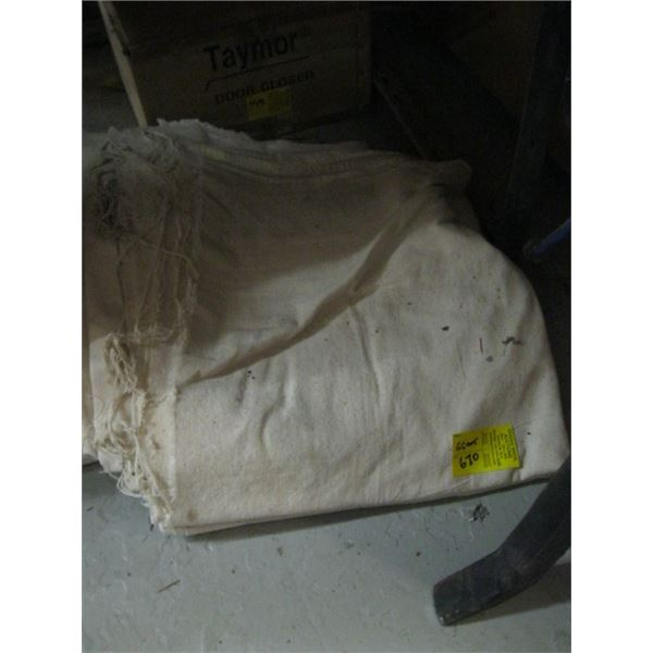 LOT OF PAINTING DROP SHEETS