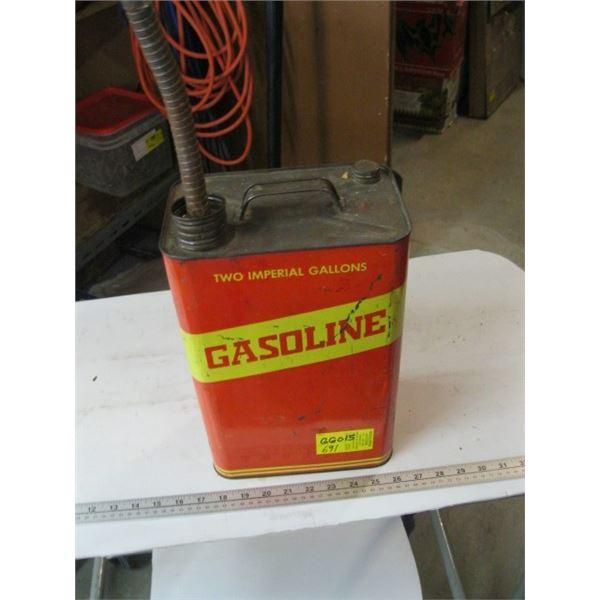 COLLECTABLE TIN, 2 IMPERIAL GALLON GAS CAN