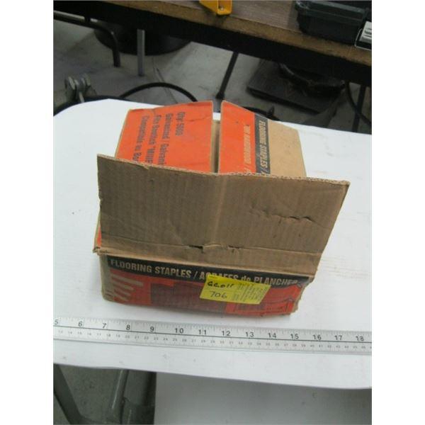 "PART BOX OF FLOORING STAPLES, 2"""