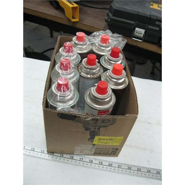 BOX OF BUTANE GAS