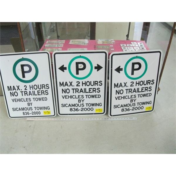 3 2 HOUR PARKING SIGNS