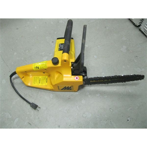 """McCULLUCH ELECTRIC 10"""" CHAIN SAW"""