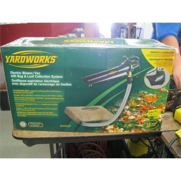 YARDWORKS ELECTRIC BLOWER VACUUM