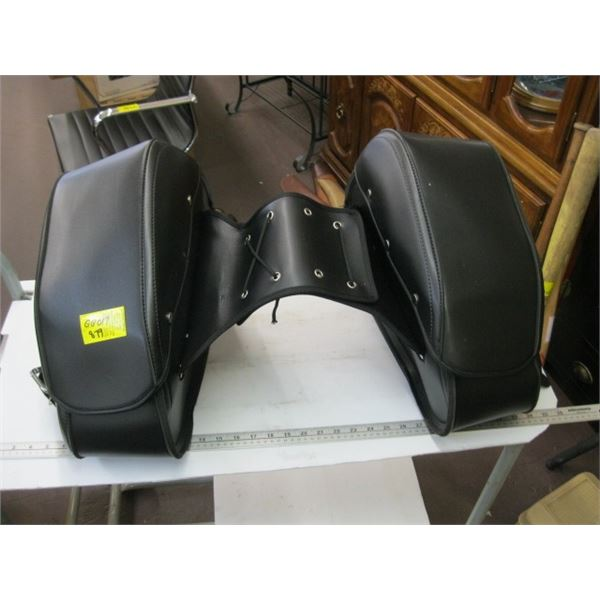 PAIR OF LEATHER SADDLEBAGS