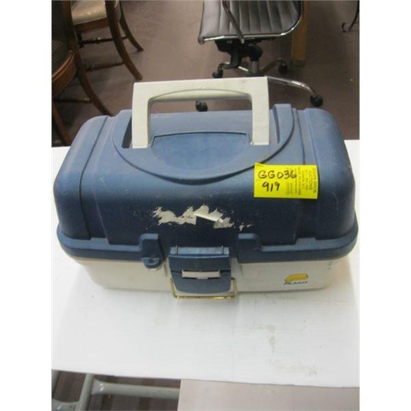 BLUE & TAN PLANO TACKLE BOX & CONTENTS