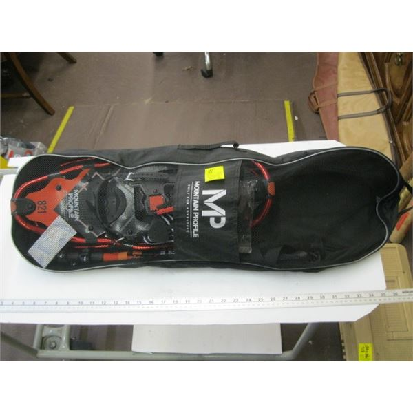 PAIR OF MP MOUNTAIN PROFILE SNOWSHOES WITH POLES