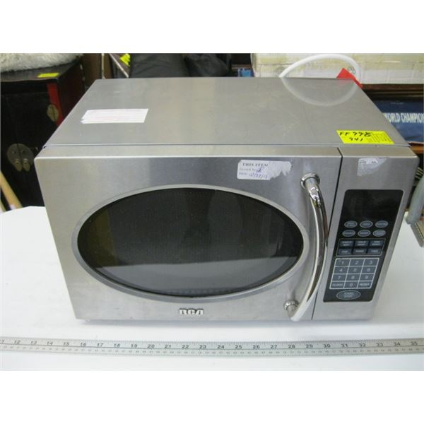 RCA MICROWAVE OVEN, STAINLESS STEEL