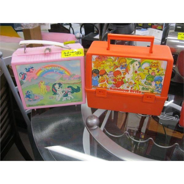 1 RAINBOW BRITE LUNCH BOX & 1 MY LITTLE PONY LUNCH BOX