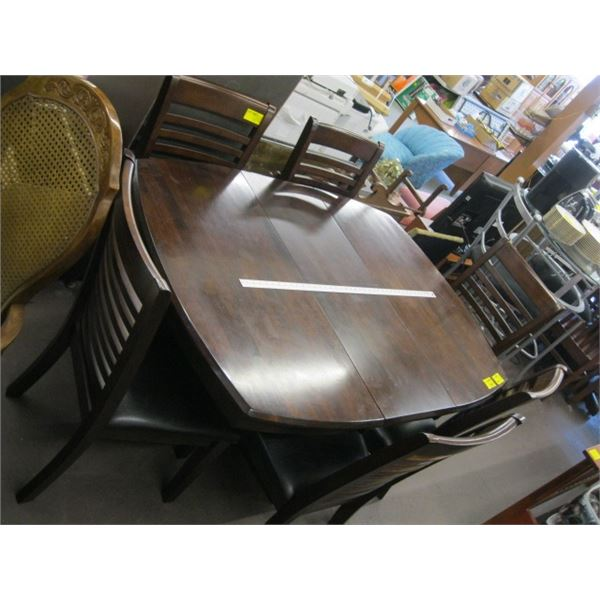 DINING TABLE WITH 6 LADDERBACK CHAIRS