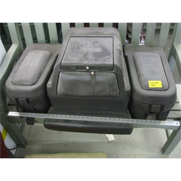 STORAGE COMPARTMENT UNIT FOR REAR OF ATV WITH SEAT PAD