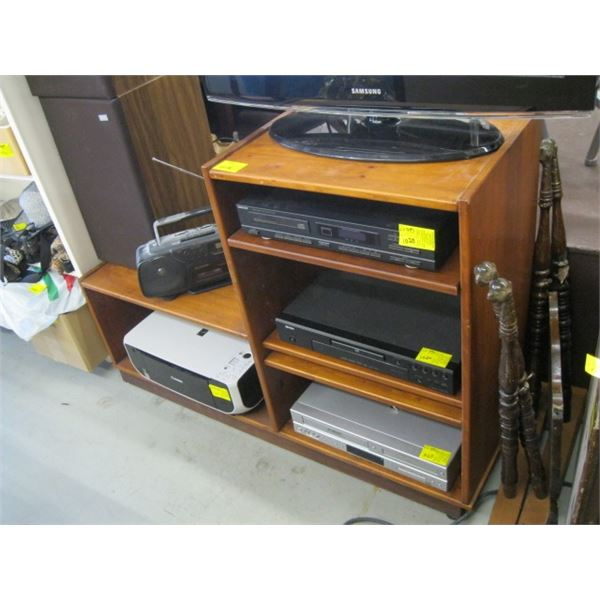 WOODEN STEREO STAND