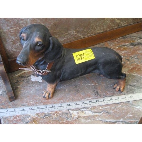 DASCHUND DOG, MADE OF PLASTIC