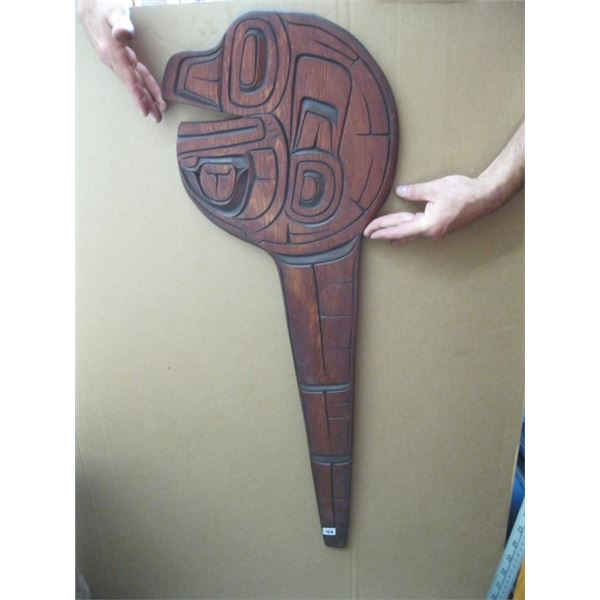 WOOD NATIVE CARVING, UNSIGNED