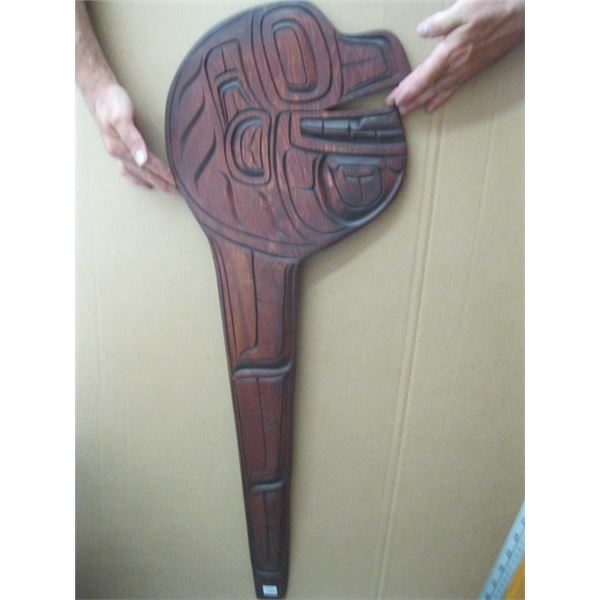 NATIVE WOOD CARVING, UNSIGNED