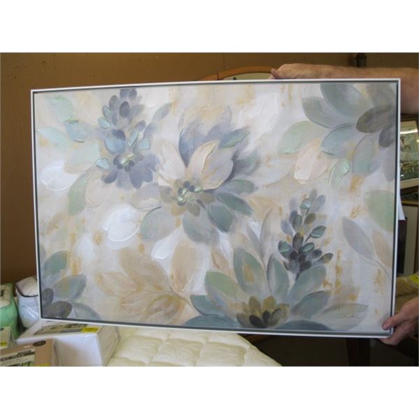 FRAMED CANVASS OIL PAINTING OF THE FLOWERS
