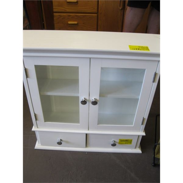 SMALL WHITE WALL MOUNT CABINET