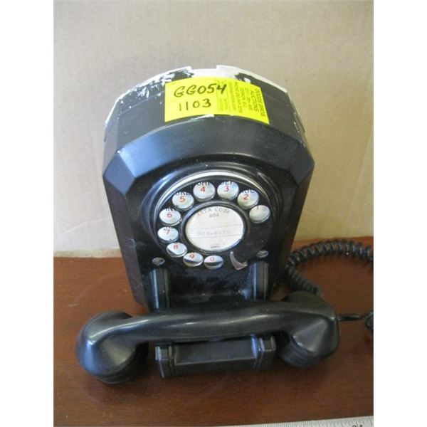 BAKEALITE CASED BLACK DIAL TELEPHONE