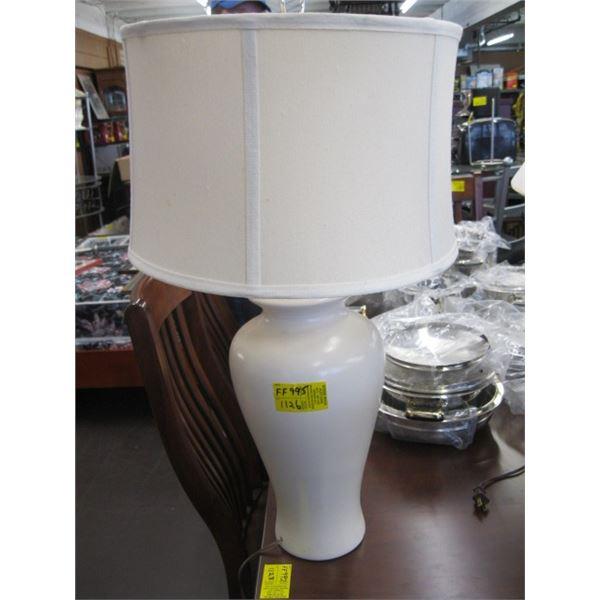 WHITE CERAMIC BASE LAMP