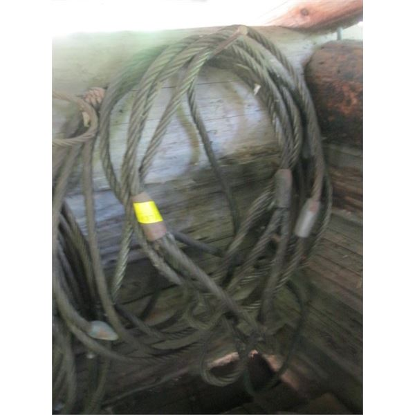 CABLE SLINGS **ITEM OFF SITE, CALL FOR VIEWING APPOINTMENT**