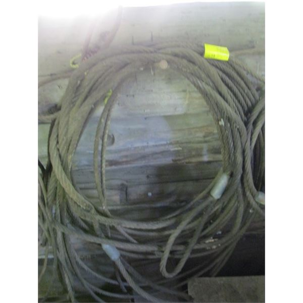 CABLE SLINGS, **ITEM OFF SITE, CALL FOR VIEWING APPOINTMENT**