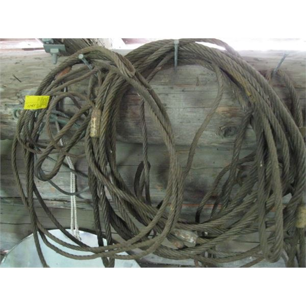VARIOUS SIZE CABLE SLINGS, **ITEM OFF SITE, CALL FOR VIEWING APPOINTMENT**