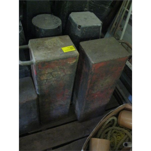 2 METAL BOXES WITH HANDLES, **ITEM OFF SITE, CALL FOR VIEWING APPOINTMENT**