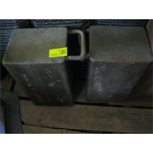 2 METAL BOXES WITH HANDLE **ITEM OFF SITE, CALL FOR VIEWING APPOINTMENT**