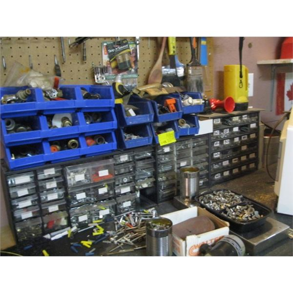 LOT OF SCREW ORGANIZERS, **ITEM OFF SITE, CALL FOR VIEWING APPOINTMENT**