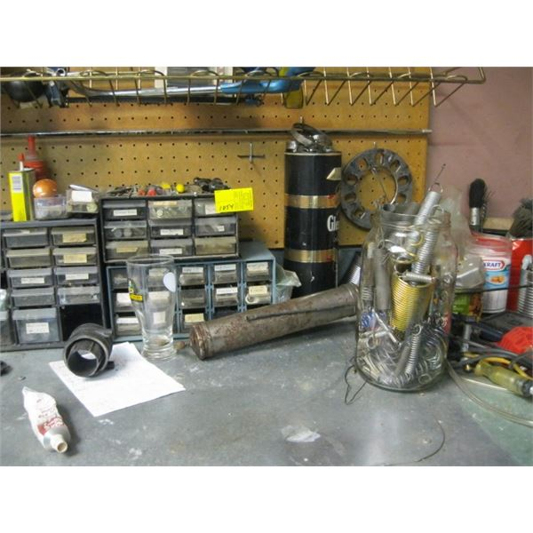 PARTS ORGANIZERS, SPRINGS, ETC., **ITEM OFF SITE, CALL FOR VIEWING APPOINTMENT**