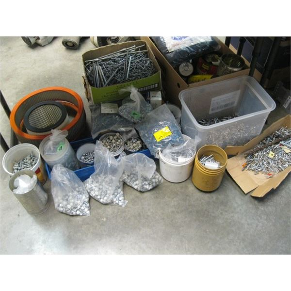 LOT OF SCREWS, NAILS, ETC., **ITEM OFF SITE, CALL FOR VIEWING APPOINTMENT**