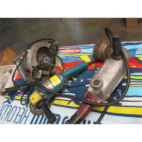 LG. GRINDER, MAKITA GRINDER & CRAFTSMAN SKILSAW, **ITEM OFF SITE, CALL FOR VIEWING APPOINTMENT**