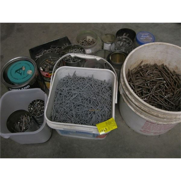 LOT OF MISC. NAILS, **ITEM OFF SITE, CALL FOR VIEWING APPOINTMENT**