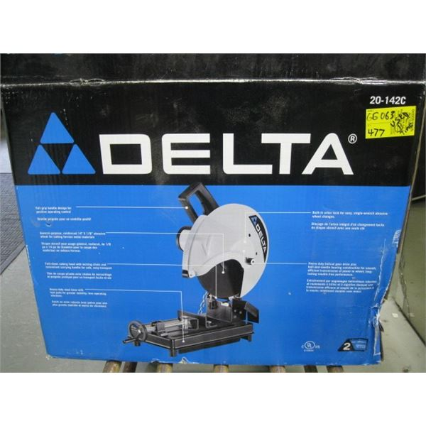 """DELTA 14"""" ABRASIVE CUT OFF SAW (ONLY USED ONCE)"""