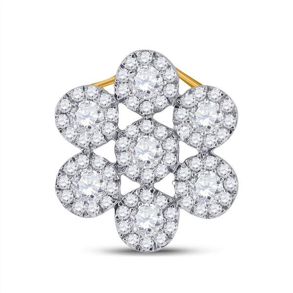 Round Diamond Fashion Pendant 1/2 Cttw 10KT Yellow Gold