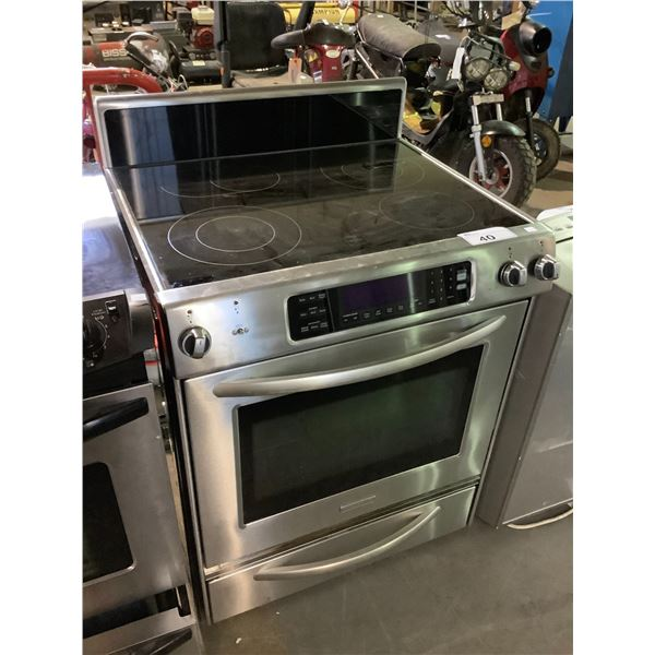 KITCHENAID ELECTRIC STOVE WITH CONVECTION OVEN MISSING 1 KNOB