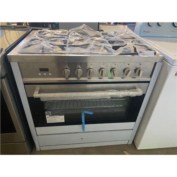 ANCONA STAINLESS STEEL GAS POWERED STOVE (HAS SOME DENTS)