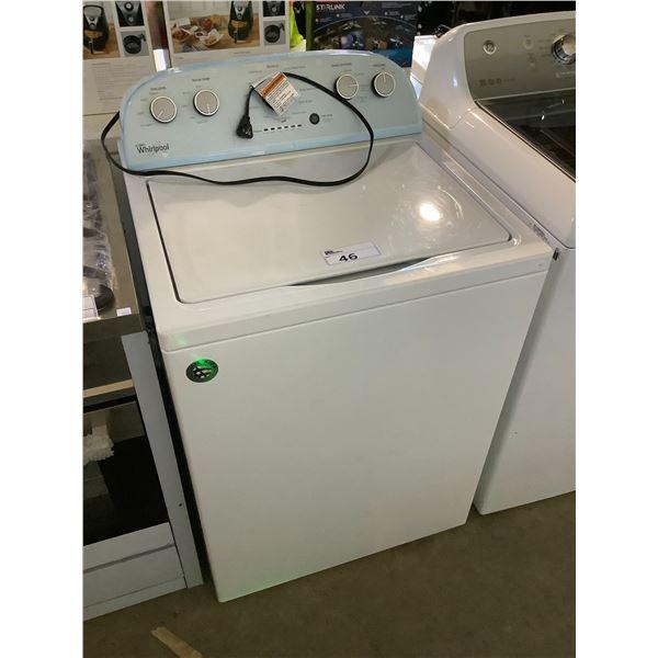 WHITE WHIRLPOOL WASHER MODEL WTW5000DW1
