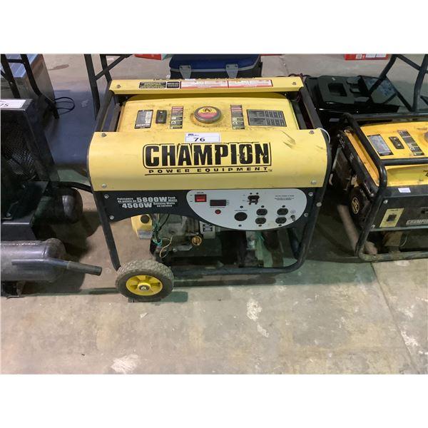 CHAMPION 4500W RUN/5800W PEAK GENERATOR