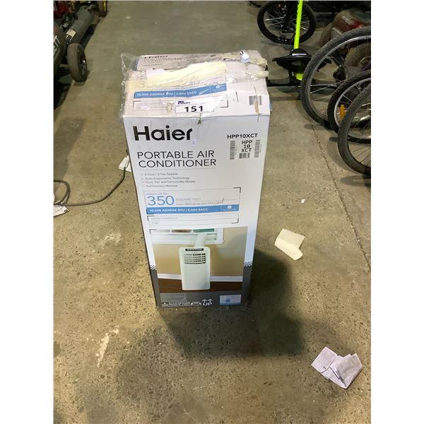 HAIER 10,000 BTU PORTABLE AIR CONDITIONER MODEL HPP10XCT