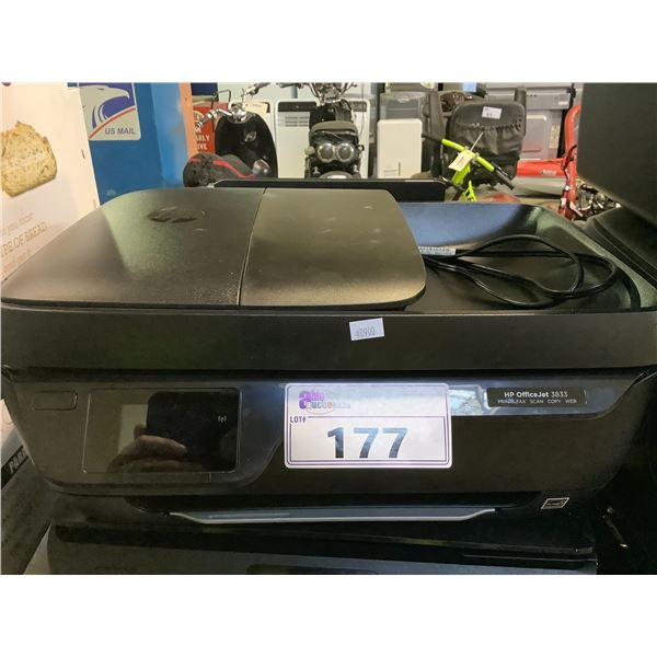 HP OFFICEJET 3833 ALL-IN-ONE PRINTER (NO POWER CORD)