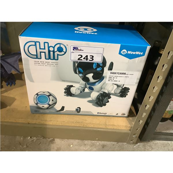 """WOWWEE CHIP BLUETOOTH """"YOUR NEW BEST FRIEND"""" ROBOTIC DOG"""