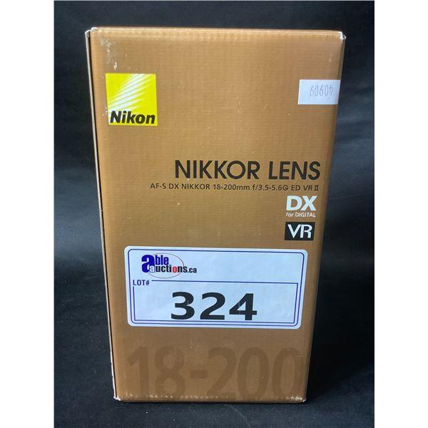 NIKON NIKKOR LENS AF-S DX NIKKOR 18-200MM F/3.5-5.6G ED VR II